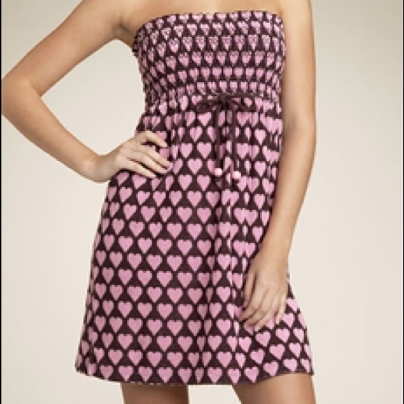 384b653df44f Juicy Couture Other - Juicy Couture heart Smocked Terry Dress