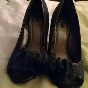 FIONI Clothing Shoes - Blue Denim peep toes pumps by FIONI. Size 8