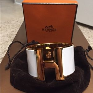 Authentic Hermes extra wide clic clac PM