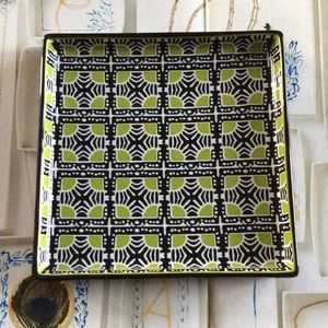 J.crew Square Pattern Ceramic Jewelry Tray