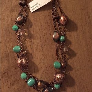 Premier Designs Jewelry - Copper & turquoise beaded necklace
