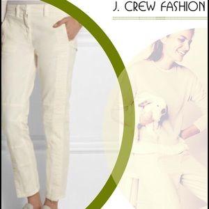 J. Crew Pants - J.Crew Seamed Ivory Motorcycle Pant