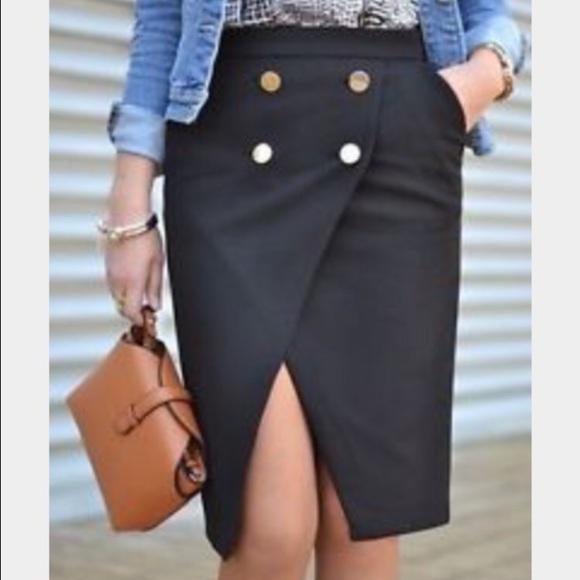 80% off Zara Dresses & Skirts - Black Zara crossover skirt with 4 ...