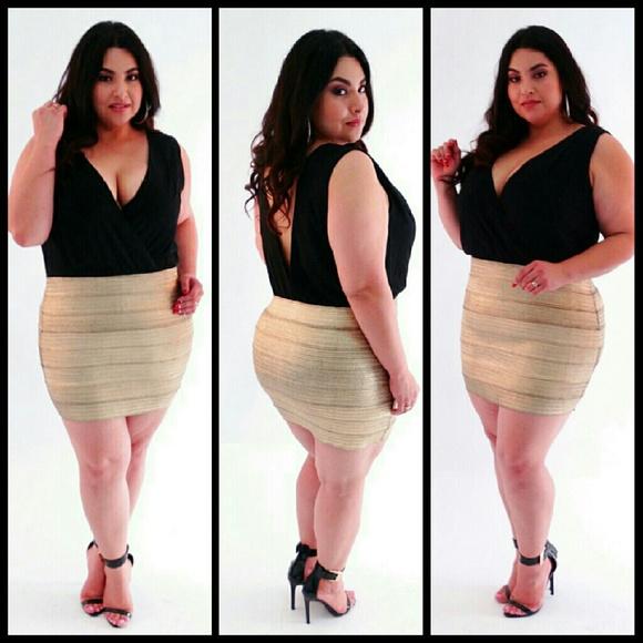 1x 2x 3x gold and black plus size dress
