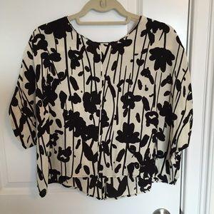 Zara kimono sleeve printed top