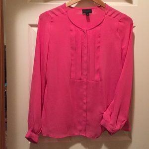 Worthington pink sheer blouse