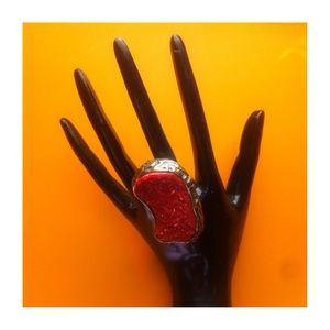 Jewelry - Beautiful Maroon Statement Ring 🌋