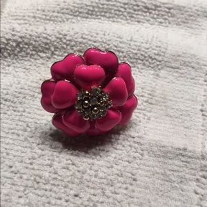 None Jewelry - flower ring hot pink