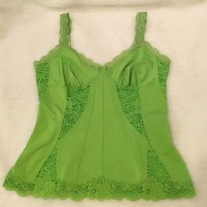 Frederick's of Hollywood Other - Frederick's of Hollywood Green Lace Top Size L