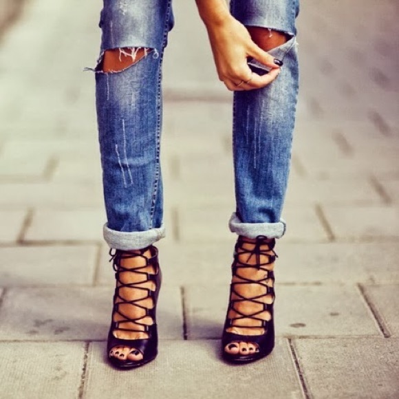 Zara - Blogger favorite. Zara lace up heels. from Lovely's closet ...