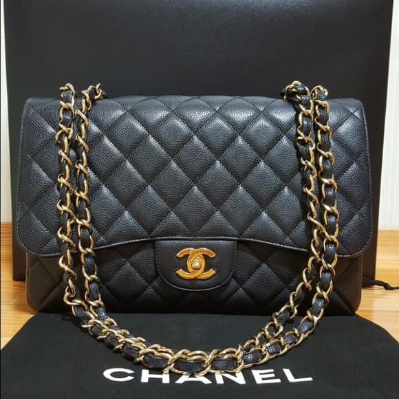 a78c415565a607 CHANEL Bags | Sold Jumbo Caviar Single Flap Bag | Poshmark