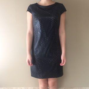 Ivy and Blu Dresses & Skirts - Black Ivy and Blu Lazer Cut Leather Dress