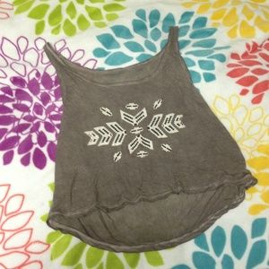 Brandy Melville Aztec print crop top