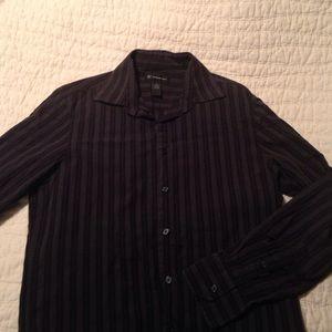 Other - Men's Black Striped Button down