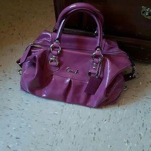 Authentic plum purple Coach handbag
