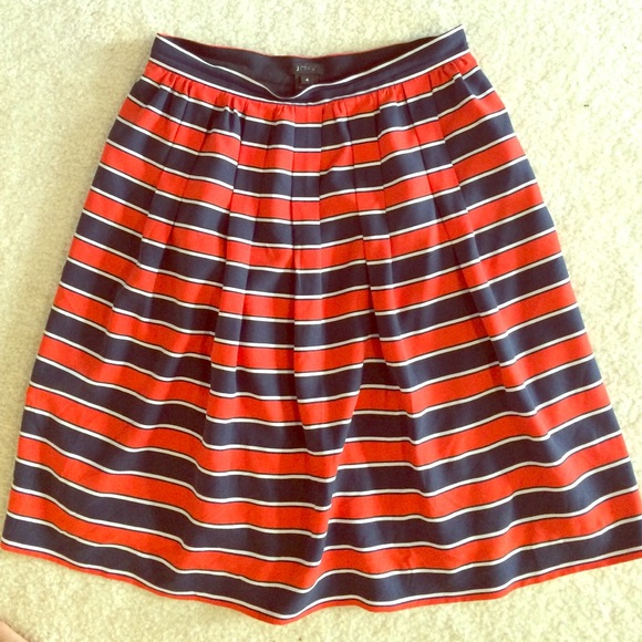 J. Crew Skirts - J crew striped skirt