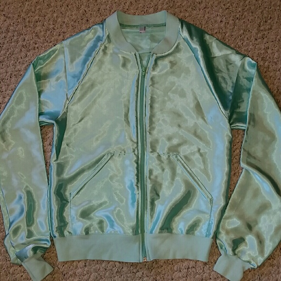 916e5350f American Apparel Shiny Disco Polyester Jacket