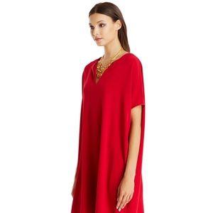Diane Von Furstenberg Red Kaftan Tunic SZ 4