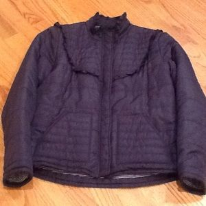 Splendid Jackets & Blazers - Pretty Splendid navy ruffle puffy jacket