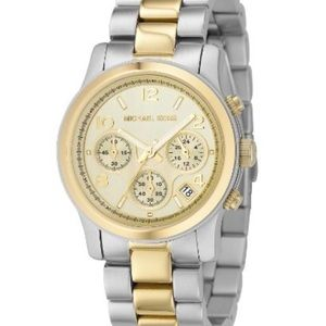 Two tone Michael kors watch