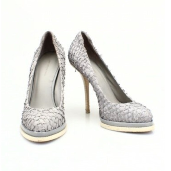 b76a0f86d86 Alexander Wang Shoes - Alexander Wang Gray Snake Skin Print Heels bundle