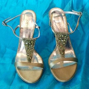 Caparros Shoes - New! Satin finish in olive embellished w/beadings.