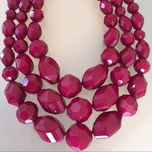 Gorgeous Raspberry Statement Necklace