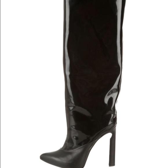 aa3a5f772e6 Jimmy Choo Shoes | Patent Leather Knee High Boots | Poshmark