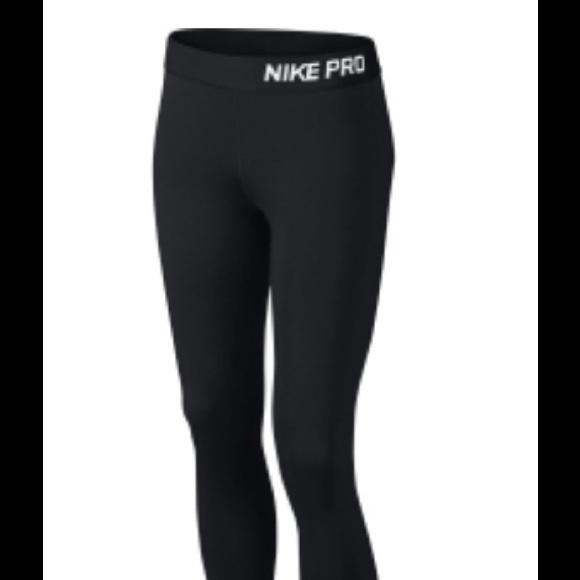 149ae83d68b052 NIKE Pants   New Pro Leggings Black Full Length Size L   Poshmark