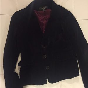 Macy's Jackets & Blazers - Black Rivet Velvet Blazer