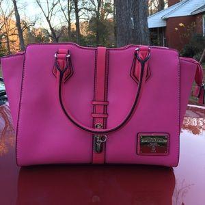 80% off Prada Handbags - PRADA pink leather shoulder bag with ...