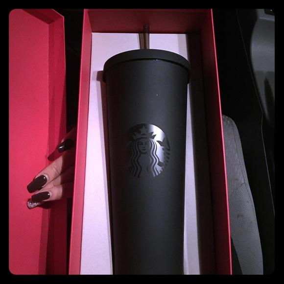 Starbucks Makeup Matte Black Cold Cup Tumbler Sold Out