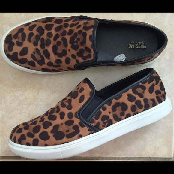 5d522d5f2b99 Mossimo Supply Co. Shoes | Leopard Print Slip On Sneakers Target Sz ...