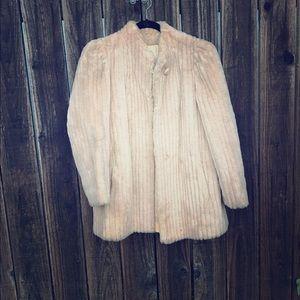 Vintage Jackets & Blazers - Vintage fur coat with peach lining