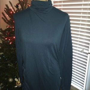 Long Elegant Legs Tops - Great tall teal tunic perfect for winter