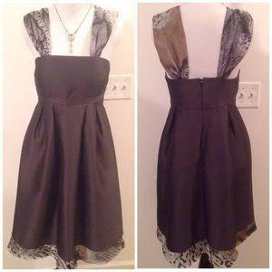 Tibi Dresses & Skirts - Tibi Brown Structured Cocktail Dress