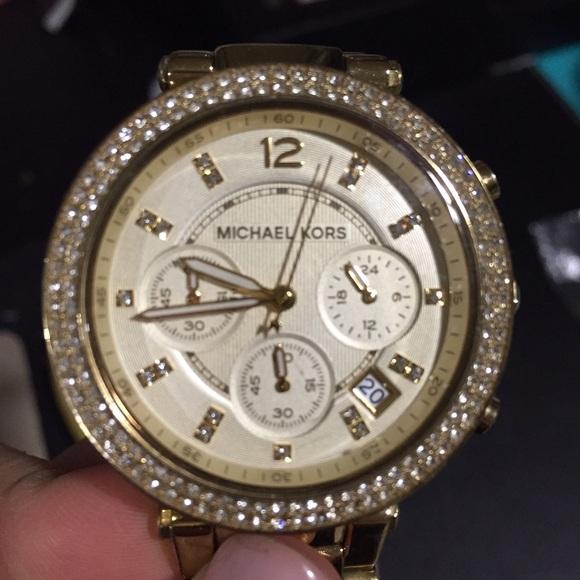 90fa64b213a Michael kors Parker gold tone watch  MK5354. M 567768109c6fcf944500b953
