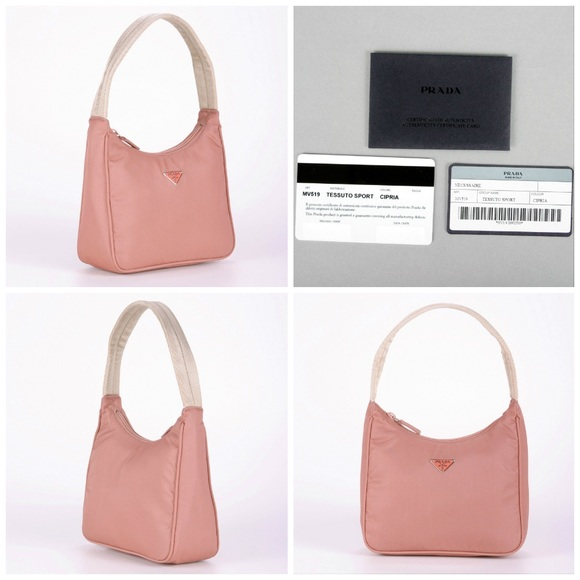 017a7c61f9 Authentic New Prada Bag in Rose w  Cards