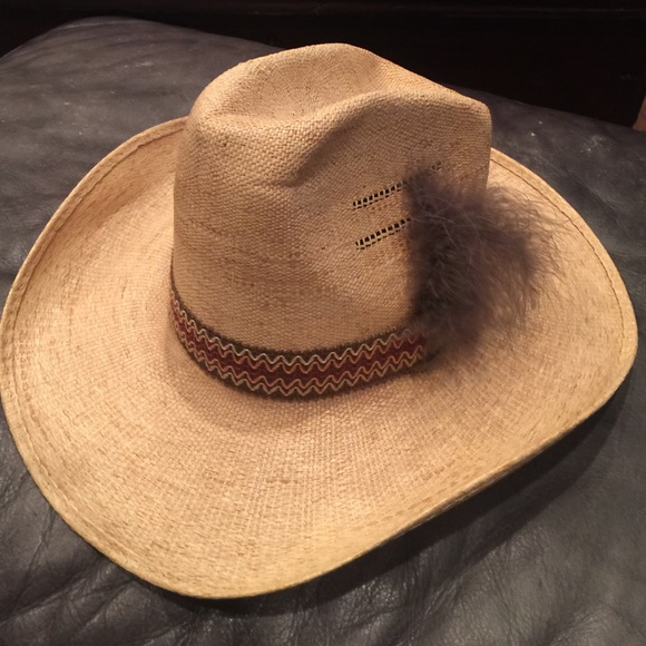 Bee Cool Straws Accessories - Vintage Bee Cool Straws cowboy hat 74623ae1b8b7