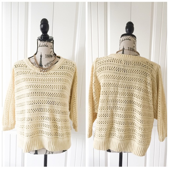 Sonoma - Billowy Soft Yellow Knit Sweater from ...
