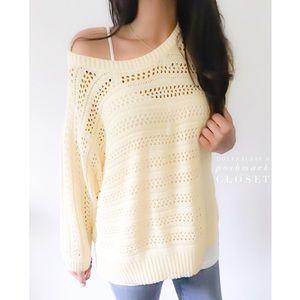 Sonoma Sweaters - Billowy Soft Yellow Knit Sweater