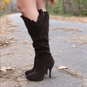 Shoes - Brown knee-high boots