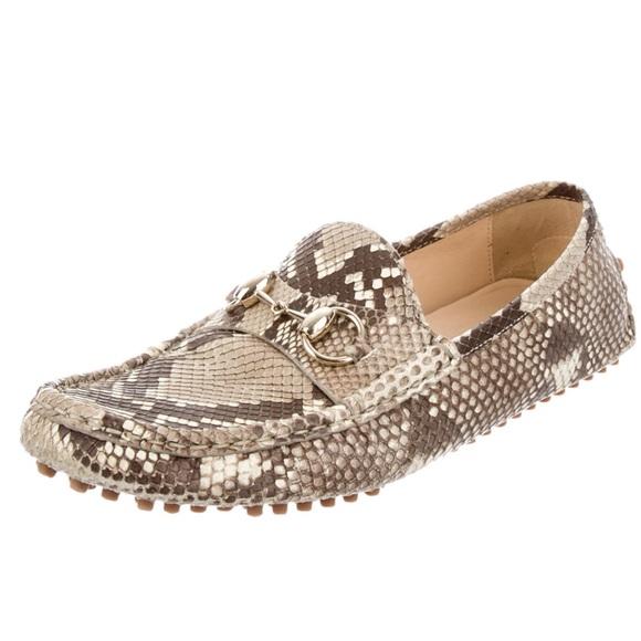 682d5e6a9cd Gucci Python Women s Driver Loafers 39
