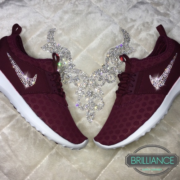 online store e9572 19e5e Nike Juvenate in Burgundy with Swarovski Crystals