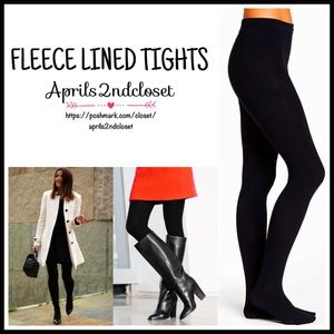 Ellen Tracy Accessories - ❗1-HOUR SALE❗Black FLEECE LINED Tights