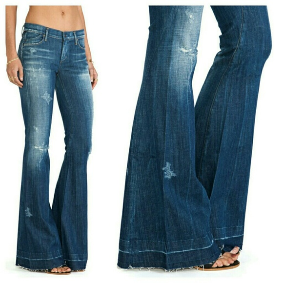 online retailer footwear sold worldwide Citizens of Humanity Charlie Super Flare Jeans NWT NWT