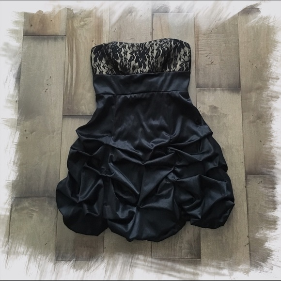 92% off Ruby Rox Dresses & Skirts - RUBY ROX • Strapless Black ...