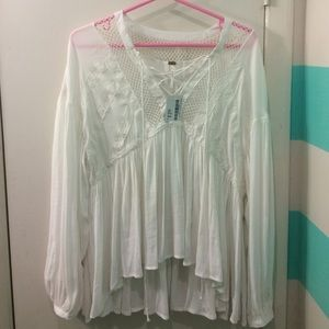 349ec4318f02b Free People Tops - Free People Don t Let Go Peasant Top