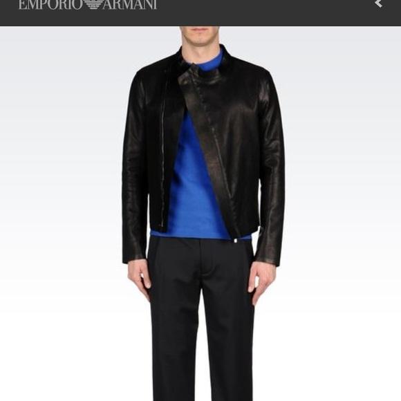 Emporio Armani blouson men's leather jacket 36