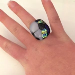 J. Crew Jewelry - Stone glass ring.